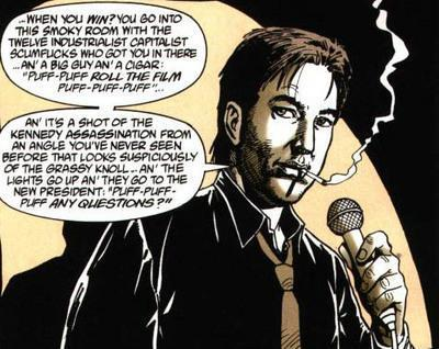 "Bill Hicks as drawn by Steve Dillon in ""Preacher"""